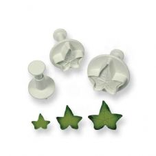 3 Veined Ivy Leaf Plunger Cutters